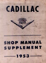 1953 Cadillac Shop Manual- Supplement page 1 of 3